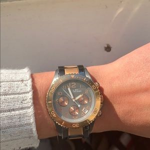 COPY - Gunmetal and rose gold Marc Jacobs watch